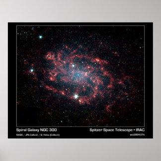 Galaxia espiral NGC 300 - telescopio espacial de S Póster
