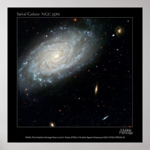 Galaxia espiral NGC 3370 Póster