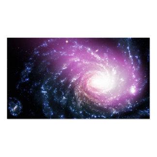 Galaxia espiral plantillas de tarjetas de visita