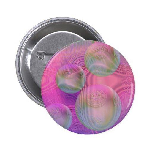 Galaxia fucsia y violeta del flujo interno III - Pin Redondo 5 Cm