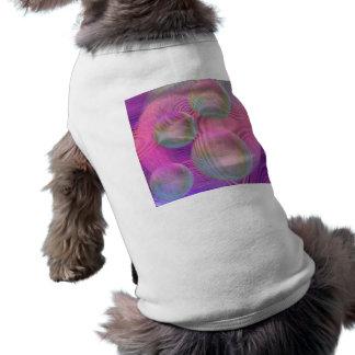 Galaxia fucsia y violeta del flujo interno III - Playera Sin Mangas Para Perro