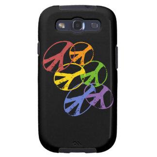 Galaxia gay SIII de Samsung del símbolo de paz Samsung Galaxy S3 Carcasas