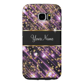 Galaxia glamorosa S6 del monograma Fundas Samsung Galaxy S6