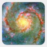 Galaxia impresionista de Whirlpool Pegatinas Cuadradases