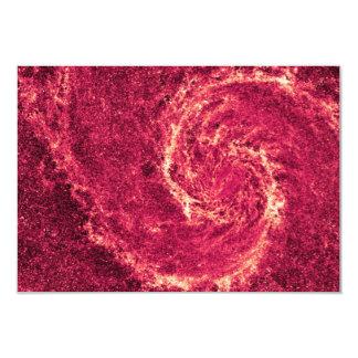 "Galaxia infrarroja un 51a más sucio NGC 5194 de Invitación 3.5"" X 5"""