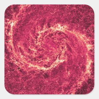 Galaxia infrarroja un 51a más sucio NGC 5194 de Pegatina Cuadrada