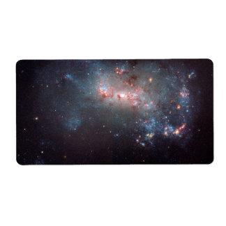Galaxia irregular NGC 4449 Caldwell 21 Etiqueta De Envío
