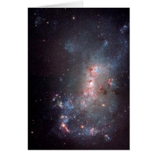 Galaxia irregular NGC 4449 Caldwell 21 Tarjeta De Felicitación