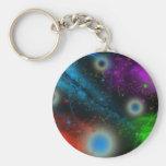 Galaxia Llavero Redondo Tipo Pin