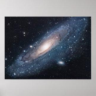Galaxia M31 en Andromeda Póster