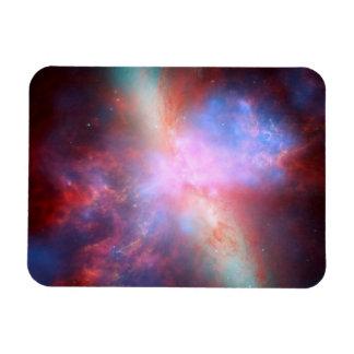Galaxia M82 de Starburst Imanes De Vinilo