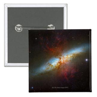 Galaxia M82 de Starburst Pin Cuadrado