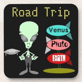 Galaxia marciana del viaje por carretera extranjer posavaso