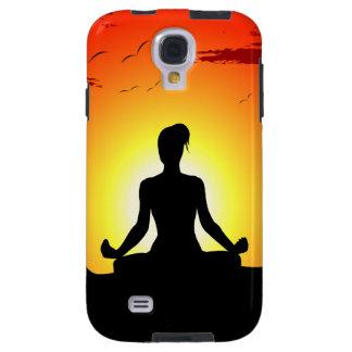 Galaxia Meditating S4 de Samsung de la sol de la y Funda Galaxy S4