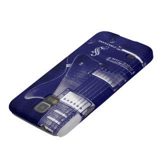 Galaxia metálica azul S5 de la guitarra eléctrica Funda De Galaxy S5