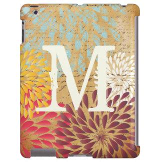 Galaxia moderna del monograma de la flor de funda para iPad