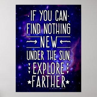 Galaxia/nebulosa del espacio exterior con palabras póster