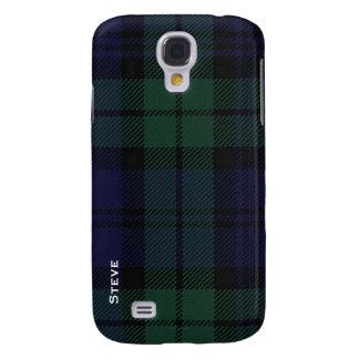 Galaxia negra S4 de Samsung de la tela escocesa de Funda Para Galaxy S4
