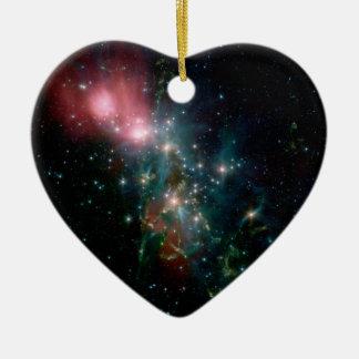 Galaxia NGC 1333 Adorno De Cerámica En Forma De Corazón