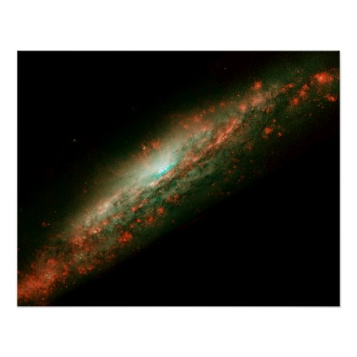 GALAXIA NGC 3079 POSTER