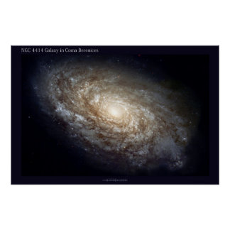 Galaxia NGC 4414 de Hubble Poster