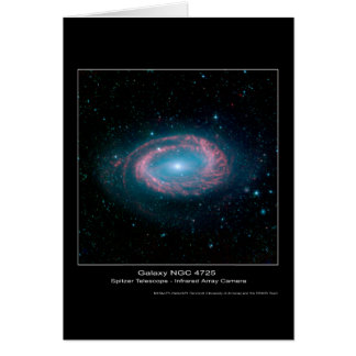 Galaxia NGC 4725 - telescopio espacial de Spitzer  Tarjeton