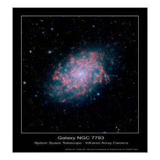 Galaxia NGC 7793 - telescopio espacial de Spitzer  Póster