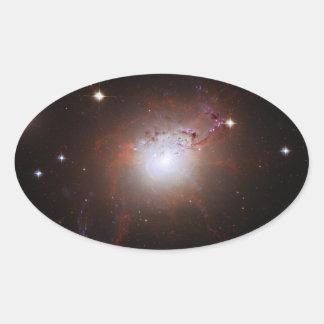 Galaxia NGC de Seyfert Perseus 1275 un Caldwell 24 Pegatina Ovalada