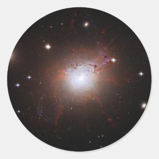 Galaxia NGC de Seyfert Perseus 1275 un Caldwell 24 Pegatina Redonda