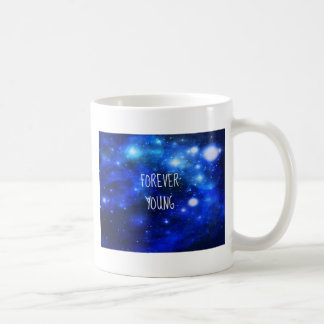 Galaxia para siempre joven del espacio tazas