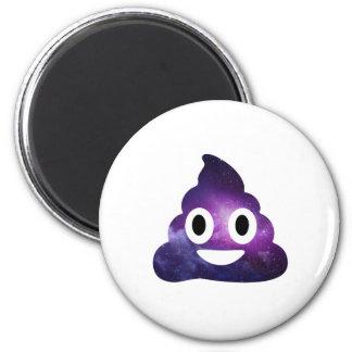 Galaxia Poo Emoji Imán Redondo 5 Cm