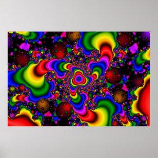 Galaxia psicodélica póster