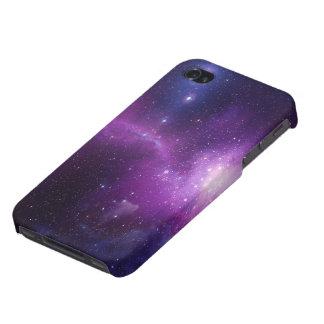 galaxia púrpura azul hermosa para el caso del iPho iPhone 4 Coberturas