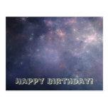 Galaxia púrpura con las estrellas postal