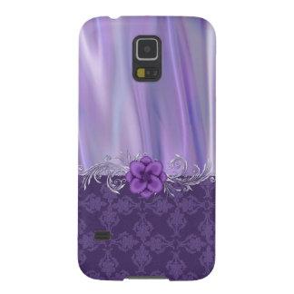 Galaxia púrpura elegante S5 de Samsung del satén y Carcasas De Galaxy S5