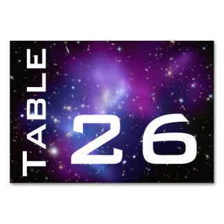 Galaxia púrpura numerada