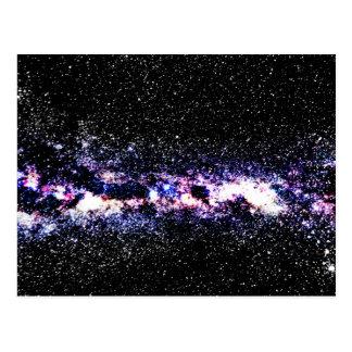 Galaxia púrpura tarjetas postales