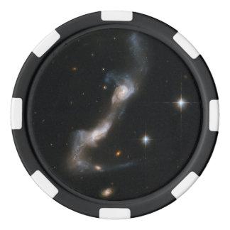 Galaxia que obra recíprocamente UGC 8335 de Hubble Juego De Fichas De Póquer