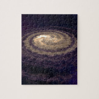 Galaxia que remolina de oro puzzles