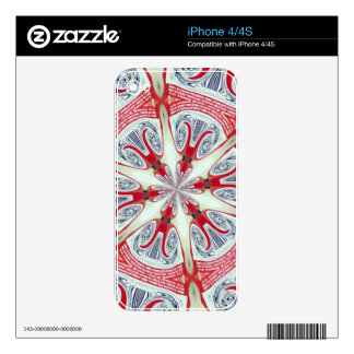 galaxia roja calcomanía para iPhone 4S