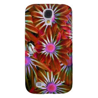 Galaxia roja S4 de Samsung de la flor del aster Samsung Galaxy S4 Cover