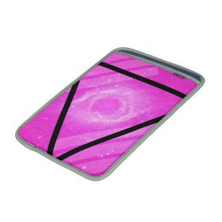 Galaxia rosada del inconformista con el triángulo  fundas para macbook air