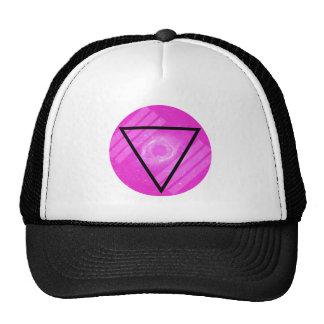 Galaxia rosada del inconformista con el triángulo  gorras