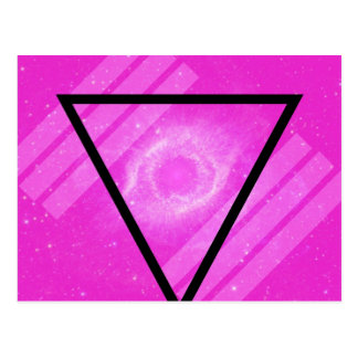 Galaxia rosada del inconformista con el triángulo  postales
