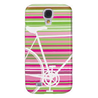 Galaxia rosada y abstracta de Samsung de la bicicl