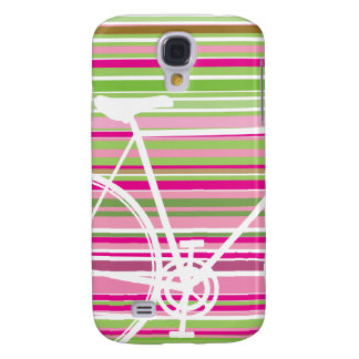 Galaxia rosada y abstracta de Samsung de la bicicl Funda Para Galaxy S4
