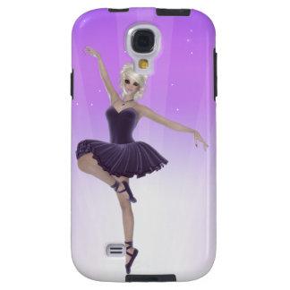 Galaxia rubia S4 de Samsung de la bailarina, dura Funda Galaxy S4