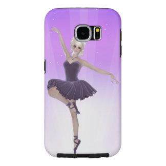 Galaxia rubia S6 de Samsung de la bailarina, dura Funda Samsung Galaxy S6