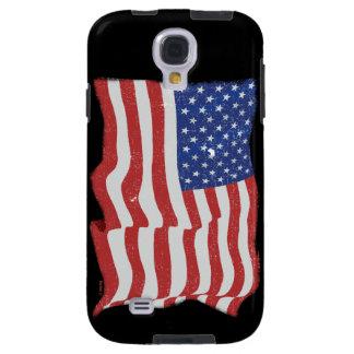 Galaxia S4 de Samsung de la bandera americana del  Funda Para Galaxy S4