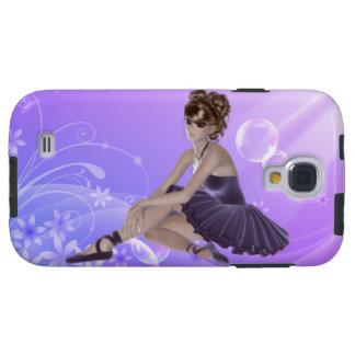 Galaxia S4, dura, lila, caso de Samsung de la Funda Galaxy S4